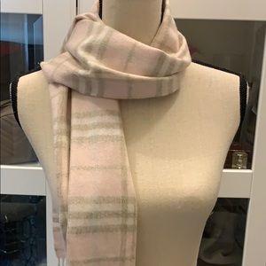 COPY - Burberry pink novacheck 100% cashmere scarf